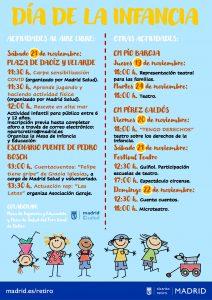 Cartel Informativo de las actividades por el Día de la Infancia